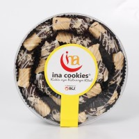 INA COOKIES Almond Cheese Coklat REGULER