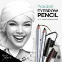 Wardah Eye Brow Pencil With Brush Pensil Alis Coklat dan Hitam Sikat