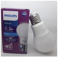 Lampu LED Philips 6 watt Bohlam 6w / Philip Putih 6 w Bulb LED 6watt