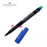 Faber-Castell Multimark Marking Pen 1525 Permanent Medium (M) - Blue