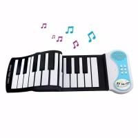 piano lipat portable hand roll piano 140 nada dengan speaker port usb