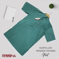 Kurta / Gamis Saudi Lengan Pendek Syauqi Toyobo Mint Polos
