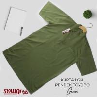 Kurta / Gamis Saudi Lengan Pendek Syauqi Toyobo Hijau Pupus