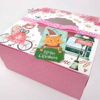 (DUS NATAL GIRL22) kotak natal girl FREE pita dan tag natal 22x22x10