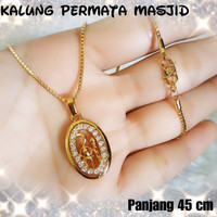 ... Xuping perhiasan lapis emas kalung dewasa permata masjid