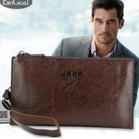 Tas tangan/Dompet pria impor JEEP BULUO (banyak slot, muat hp besar)