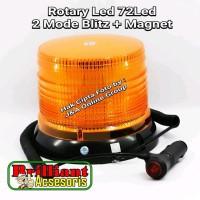 NEW LAMPU ROTARY 72 LED - 2MODE NYALA BLITZ LIMITED