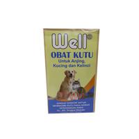 WELL Obat Kutu Anjing Kucing Kelinci Bubuk
