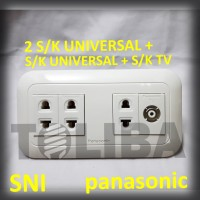stopkontak tv + 3 stop kontak s/k universal panasonic inbow ib sni