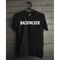 KAOS DISTRO BACKPACKER - HITAM