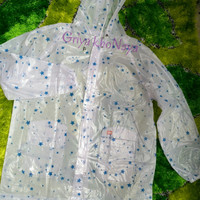 Jas Hujan Setelan Jaket Celana Transparan UPR (Seperti Plevia Elmondo)