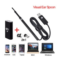 Visual USB WiFi LED Light Endoscope with Ear Cleaning Spoon OLB3374