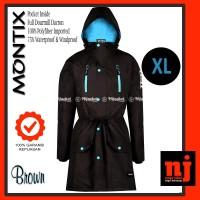 XL - Original Hijacket Montix Brown Parka Wanita Muslimah Hijaber