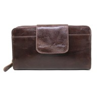Dompet Kulit Wanita Mom New Dark Brown