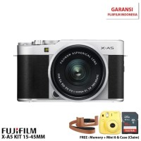 Harga fujifilm x a5 mirrorless digital camera with 15 45mm lens silver | Pembandingharga.com