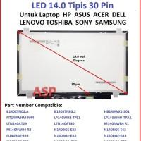 LCD LED 14.0 Slim 30 Pin HB140WX1-301 V4.0 HB140WX1-401 HB140WX1-601