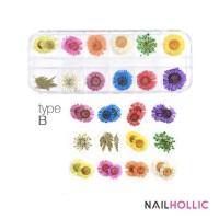 nail art dry flower / nail decor /bunga kering