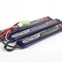 Turnigy Nano Tech 1400mah 3S 15 25C Lipo AIRSOFT Triple Pack G36C AK
