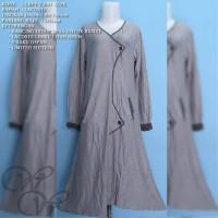 GREY T 091 LCPK IRENE HIJAB GAMIS DRESS FASHION WANITA MUSLIMAH