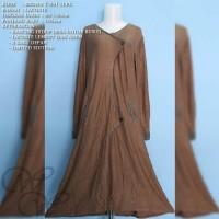 BROWN T 091 LCPK IRENE HIJAB GAMIS DRESS FASHION WANITA MUSLIMAH