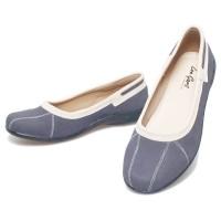 Sepatu Flat Shoes Wanita Biru Syntetic By Basama Soga