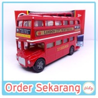 Diecast Motor Max London Series Miniatur Bis Tingkat LONDON BUS CITY