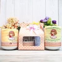 Hampers Audrey/souvenir handuk/mangkok/baby one month/baby born/handuk