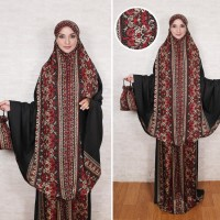Mukena Nurhasana/Mukena Katun Rayon Tebal Adem/Mukena Motif Batik XL