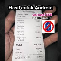 Printer Kasir 57.5mm Pos Restoran Toko thermal. Android Murah