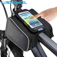 Tas Sepeda Waterproof dengan Case Smartphone Roswheel - ROS12813