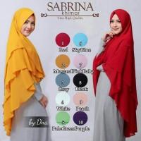 Jilbab Syari Hijab Jumbo Kerudung Murah Khimar Ceruti Sifon 3 Layer SB