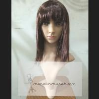 Wig Rambut Palsu Model Lurus Poni