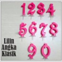 Lilin Angka KLASIK 0-9