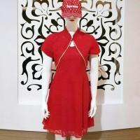 Baju mini Dress cheongsam imlek wanita cewek impirt best seller