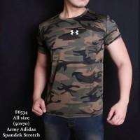 Baju kaos ARMY gym fitness tentara loreng camo Underarmour UA MLN01