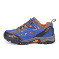 Sepatu Gunung Snta 433 Blue Orange Mid Hiking/Trekking