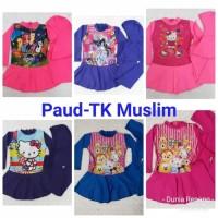 Baju Renang Anak Cewek Muslim Usia TK Motif Polkadot & My Little Pony