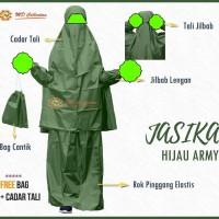JASIKA Jas Hujan Syari rok plus jilbab Kalelawar untuk akhwat free bag