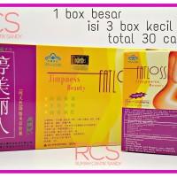 FATLOSS ~ FAT LOSS ~ Pelangsing ~ Slimming Herbal ~ ISI 3 BOX Kecil (30 pcs) ~ 3 Dimensi