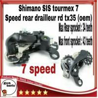 gear sepeda Shimano SIS Tournex 7 Speed Rear Derailleur - Black