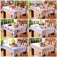Table Cloth Square / Taplak Meja Makan Kotak Uk 137x183