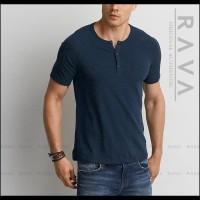 Harga hot sale baju kaos pria raglan henley oblong by rava premium | antitipu.com