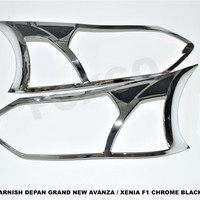 Harga garnish lampu depan grand new avanza model f1 komb black | antitipu.com
