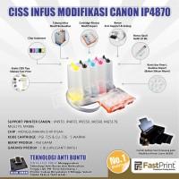 Fast Print CISS Infus Modifikasi Canon IX6560 Kosongan