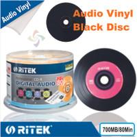 Ritek CD-R Audio Vinyl Black Disc 700MB 80Min Tabung50