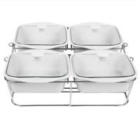 Food Warmer Mangkok Saji Basi Segi Set4 Keramik
