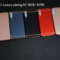 Samsung a7 2018 3 in 1 chrome case