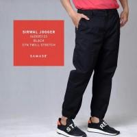 SAMASE SIRWAL JOGGER BLACK 06D005123 CTN TWILL STRECH