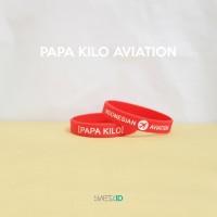 Wristband Aviasi Papa Kilo - Red