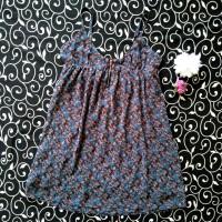 Minidress Floral Gaun Santai Minu Dress Casual Import Motif Bunga